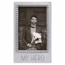 My Hero Beaded Vertical 4x6 Frame by Mariposa