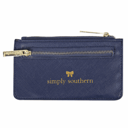 Navy Leather ID Wallet by Simply Southern