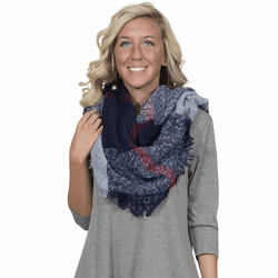Navy & Light Blue Blanket Scarf by Simply Southern