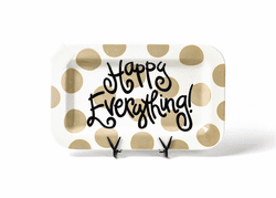 Neutral Dot Happy Everything Mini Rectangle Platter by Happy Everything!