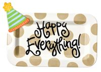 Neutral Dot Mini Rectangle Platter with Party Hat Mini Attachment by Happy Everything!