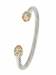 Nouveau Small Wire Cuff Bracelet - Champagne by John Medeiros