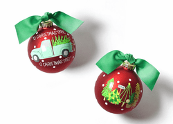 O Christmas Tree Farm Glass Ornament by Happy Everything!