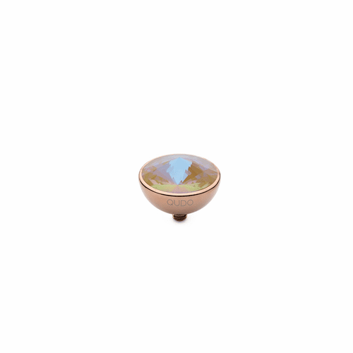 Ochre Delite 13mm Rose Gold Interchangeable Top by Qudo Jewelry