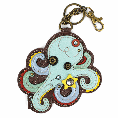 Octopus Key Fob and Coin Purse by Chala