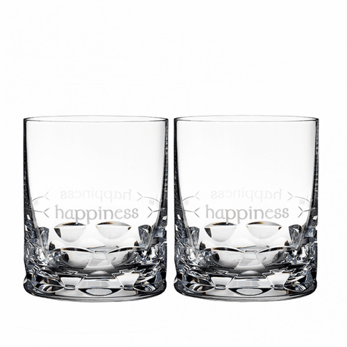 Ogham Happiness Double Old Fashioned Pair by Waterford