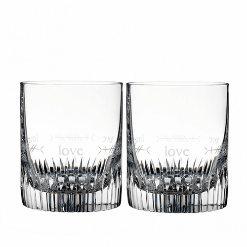 Ogham Love Double Old Fashioned Pair by Waterford