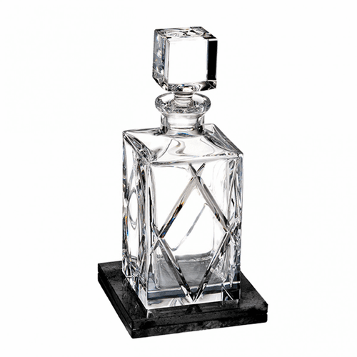 Olann Square Decanter with Marble Coaster by Waterford