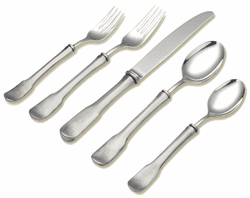Olivia 5-Piece Place Setting by Match Pewter - Special Order