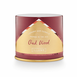 Oud Wood Vanity Tin Candle Illume Candle