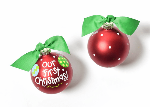 Our First Christmas Glass Ornament by Happy Everything!
