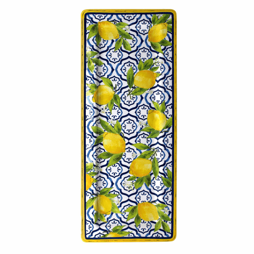 "Palermo 18"" Rectangle Serving Platter by Le Cadeaux"