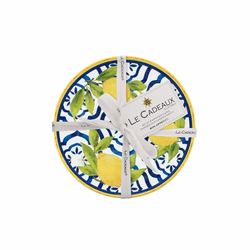 Palermo Appetizer Plates (Set of 4) by Le Cadeaux