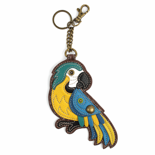 Parrot Blue Key Fob and Coin Purse by Chala