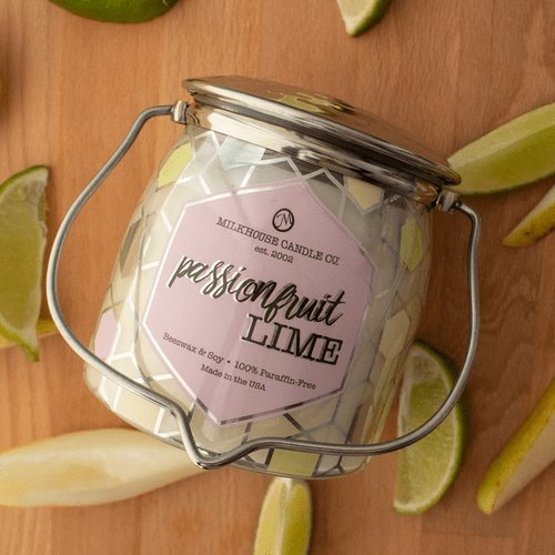 Passionfruit Lime Ltd Edition 16 oz. Wrapped Butter Jar Candle by Milkhouse Candle Creamery