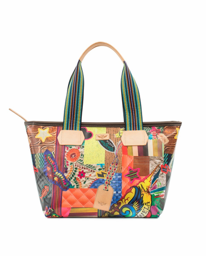Patches Legacy Shopper Tote by Consuela
