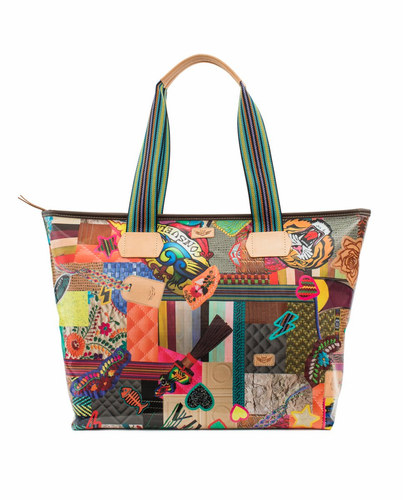 Patches Legacy Zipper Tote by Consuela