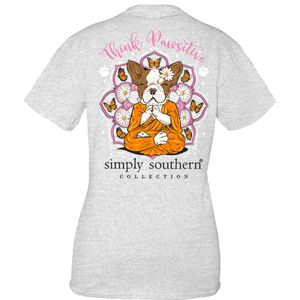 Pawsitive Ash Short Sleeve Tee by Simply Southern