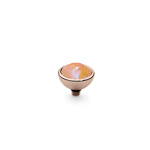 Peach Delite 10mm Rose Gold Interchangeable Top by Qudo Jewelry