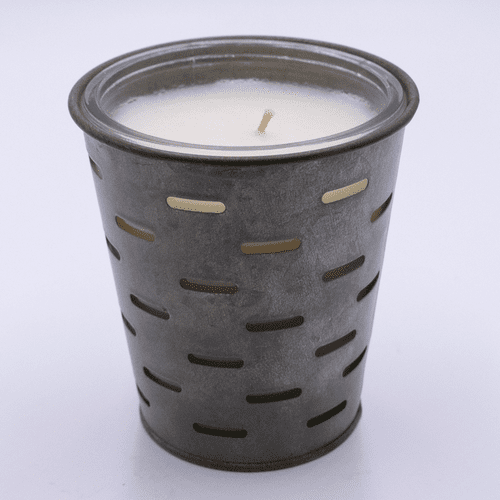 Peach Orchard Olive Bucket Candle by Park Hill Collection