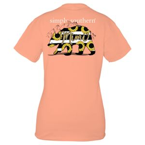 Peachy Mimi Short Sleeve Tee by Simply Southern