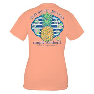 Peachy Sweet Short Sleeve Tee by Simply Southern