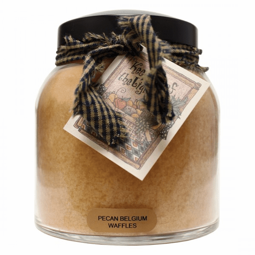 Pecan Belgium Waffles 34 oz. Papa Jar Keepers of the Light Candle by A Cheerful Giver