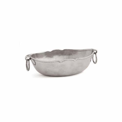 Peltro Oval Bowl with Rings - Arte Italica