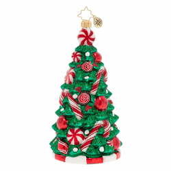 Peppermint Paradise Tree Ornament by Christopher Radko