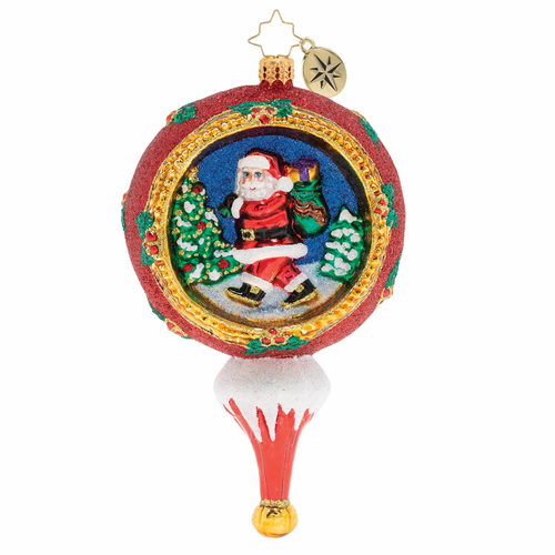 Picturesque Santa Ornament by Christopher Radko