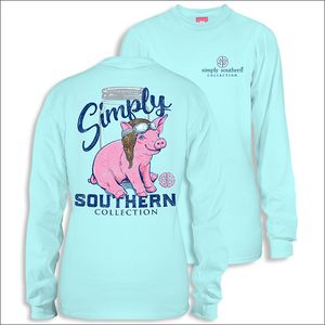 Pilot Marine Long Sleeve Tee by Simply Southern