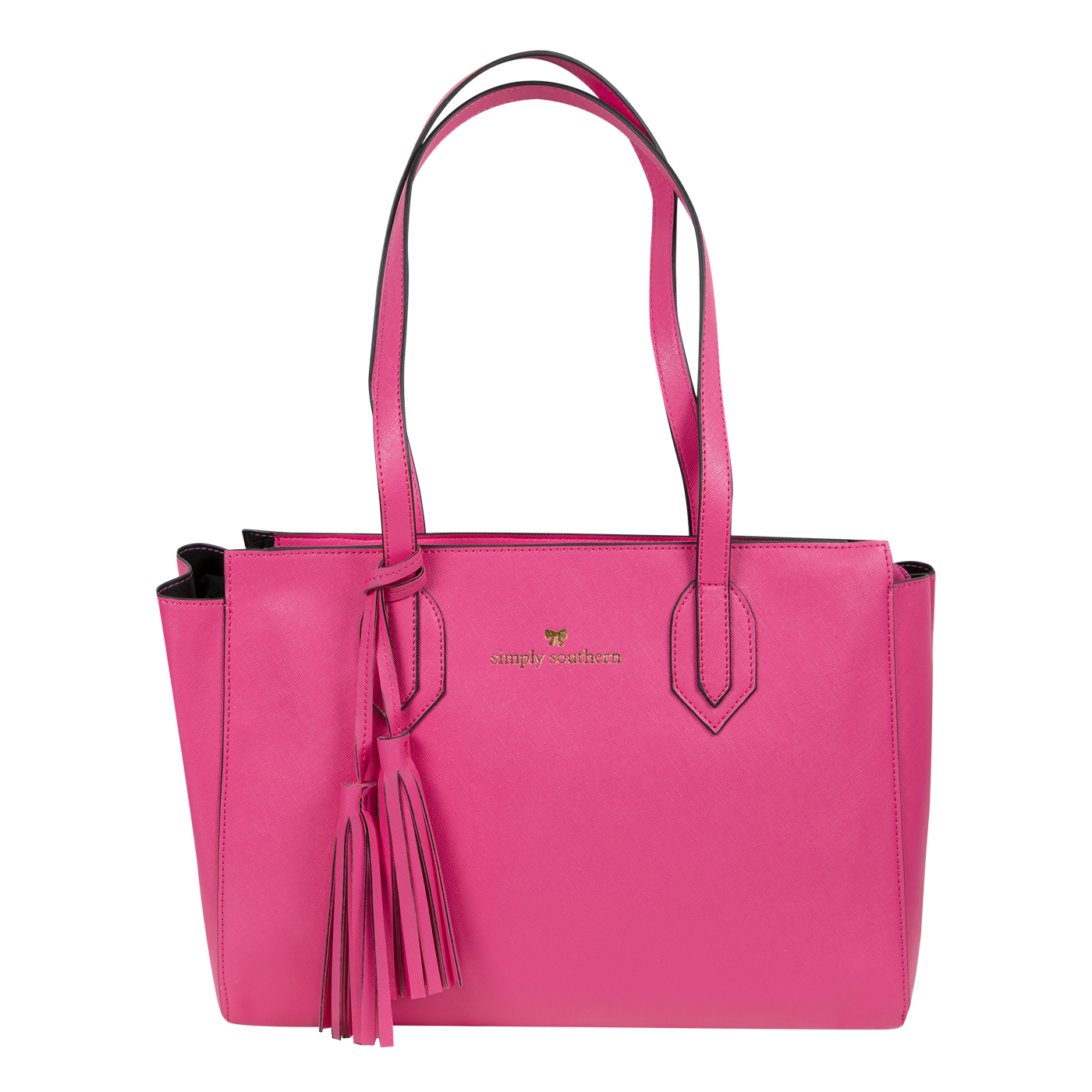 Simply Southern Tees Pink Leather Purse
