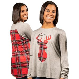 Plaid Deer Blouses by Simply Southern