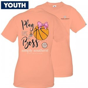 Play Like a Boss Basketball YOUTH Short Sleeve Tee by Simply Southern