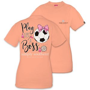 Play Like a Boss Soccer Short Sleeve Tee by Simply Southern
