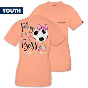 Play Like a Boss Soccer YOUTH Short Sleeve Tee by Simply Southern