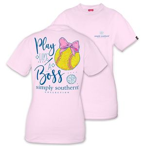 Play Like a Boss Softball Short Sleeve Tee by Simply Southern