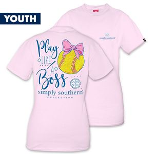 Play Like a Boss Softball YOUTH Short Sleeve Tee by Simply Southern