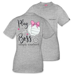Play Like a Boss Volleyball Short Sleeve Tee by Simply Southern