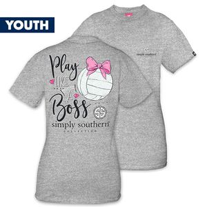Play Like a Boss Volleyball YOUTHShort Sleeve Tee by Simply Southern