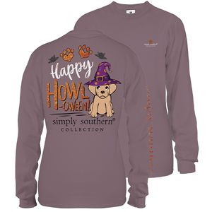 Plum Happy Howl-oween Long Sleeve Tee by Simply Southern
