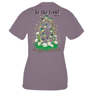 Plum Light Short Sleeve Tee by Simply Southern