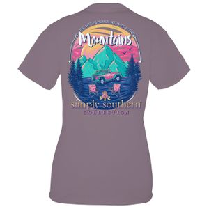 Plum Mountain Memories Short Sleeve Tee by Simply Southern