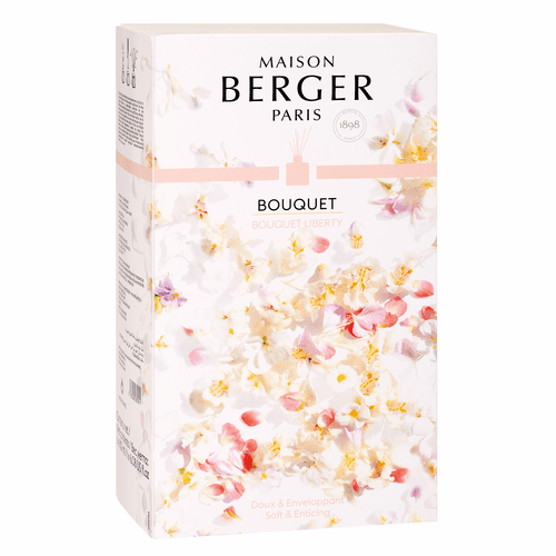 Poesy Reed Diffuser with 180 ml (6.08 oz.) Bouquet Liberty - Maison Berger by Lampe Berger