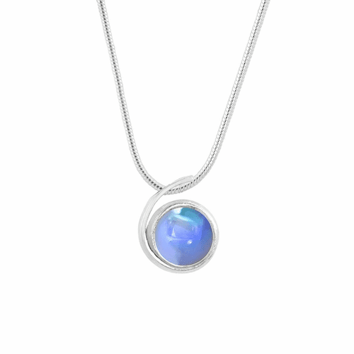 Polished Blue Small Wave Pendant by LeightWorks Wearable Fine Art