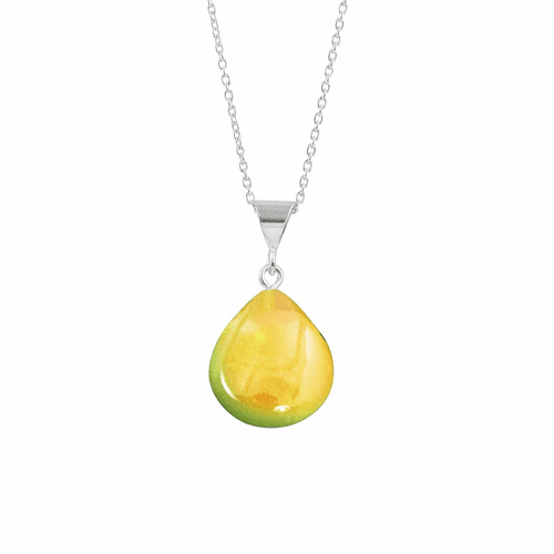 Polished Fire X-Small Drop Pendant by LeightWorks Wearable Fine Art