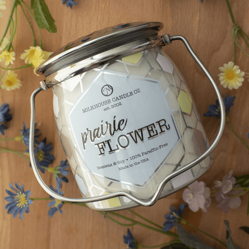 Prairie Flower Ltd Edition 16 oz. Wrapped Butter Jar Candle by Milkhouse Candle Creamery