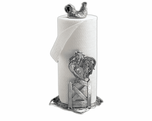 Rooster Paper Towel Holder by Arthur Court
