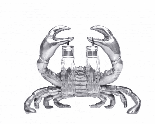 PRE-ORDER - Available Late May - Crab Hanging Salt & Pepper Set by Arthur Court