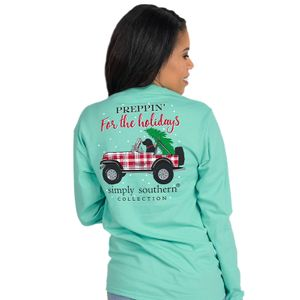 Preppin' For the Holidays Long Sleeve Tee by Simply Southern